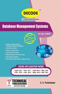 Data Base Management Systems For JNTU-H 18 Course (II - II - CSE/IT - CS404PC)