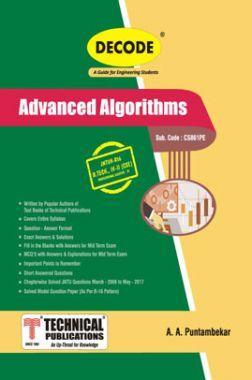 Advanced Algorithms For JNTU-H 16 Course (IV - II -CSE - CS861PE)
