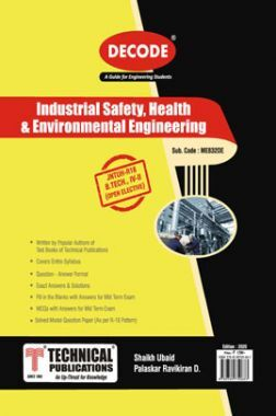 Industrial Safety, Health & Environmental Engineering For JNTU-H 16 Course (IV - II - Mech. - ME832OE)