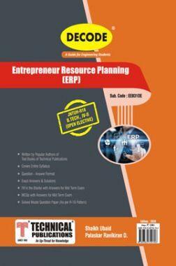 Entrepreneur Resource Planning For JNTU-H 16 Course (IV - II - EEE - ME831OE)