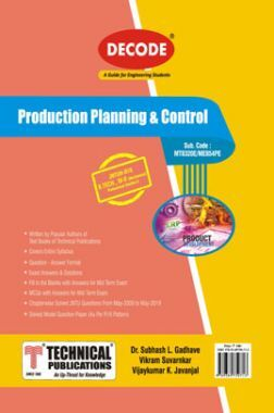 Production Planning & Control For JNTU-H 16 Course (IV - II - Mech. - ME854PE)
