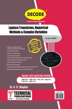 Laplace Transforms, Numerical Methods & Complex Varibles For JNTU-H 18 Course (II - II -ECE- MA401BS)