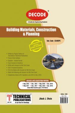 Building Materials, Construction & Planning For JNTU-H 18 Course (II - II - Civil - CE403PS)
