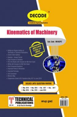 Kinematics of Machinery For JNTU-H 18 Course (II - II - Mech. - ME402PC)