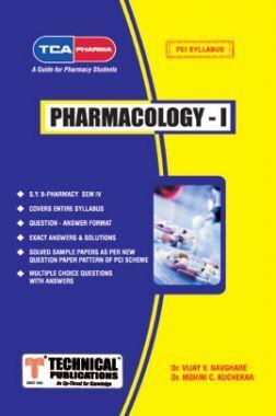 Pharmacology I For  B. PHARMACY  PCI 17  (IV - BP404T)