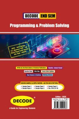 DECODE Programming & Problem Solving For SPPU 19 Course (FE - II - Common - 110005) (END SEM)