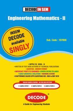 DECODE Engineering Mathematics - II For SPPU 19 Course (FE - II - Common - 107008) (IN SEM)