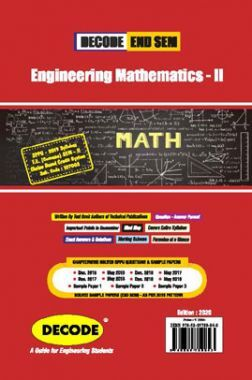 DECODE Engineering Mathematics - II For SPPU 19 Course (FE - II - Common - 107008) (END SEM)
