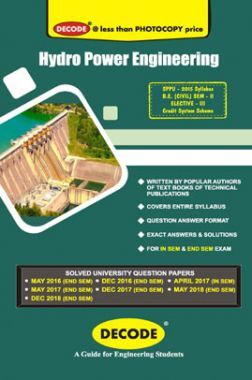 DECODE Hydro Power Engineering For SPPU 15 Course (BE - II - Civil - 401009)