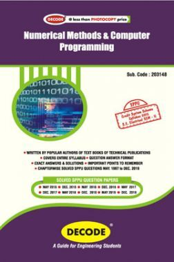 DECODE Numerical Methods And Computer Programming For SPPU 15 Course (SE - II - Electrical - 203148)