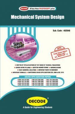 DECODE Mechanical System Design For SPPU 15 Course (BE - II - Mech. - 402048)