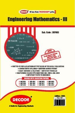 DECODE Engineering Mathematics III For SPPU 15 Course (SE - II - IT - 207003)