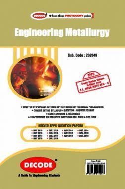 DECODE Engineering Metallurgy For SPPU 15 Course (SE - II - Mech. - 202049)