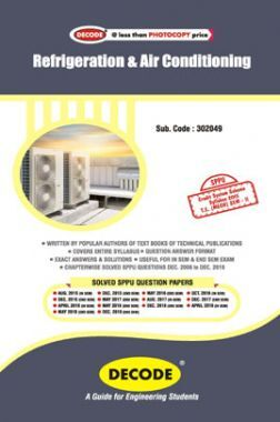 DECODE Refrigeration And Air Conditioning For SPPU 15 Course (TE - II - Mech. - 302049)