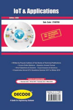 DECODE IOT And Applications For GTU University (VIII - CSE/IT-2180709)