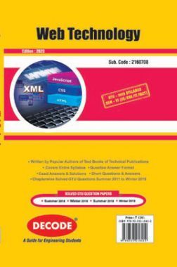 DECODE Web Technology For GTU University (VI - CSE/IT- 2160708)