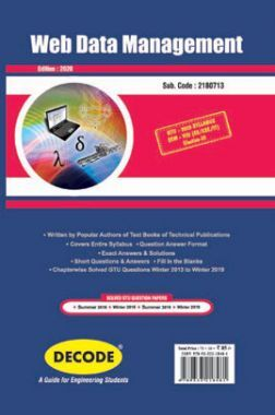 DECODE Web Data Management For GTU University (VIII - CSE/IT- 2180713)