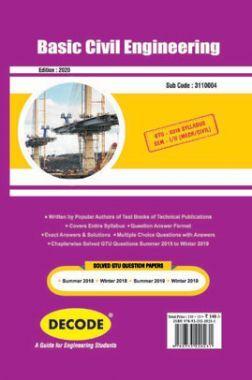 DECODE Basic Civil Engineering For GTU University (II - COMMON -3110004)