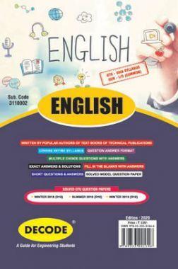 DECODE English For GTU University (II - COMMON -3110002)