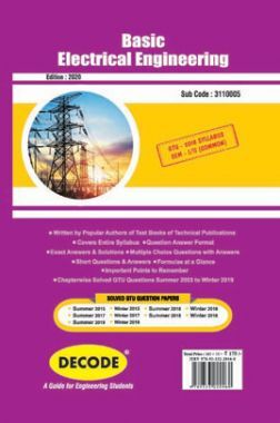 DECODE Basic Electrical Engineering For GTU University (II- COMMON - 3110005)