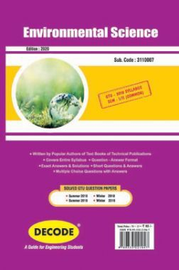 DECODE Environmental Science For GTU University (II- COMMON -3110007)