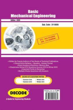 DECODE Basic Mechanical Engineering For GTU University (II-COMMON - 3110006)