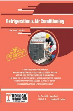 Refrigeration And Air Conditioning For SPPU 15 Course (TE - II - Mech. - 302049)