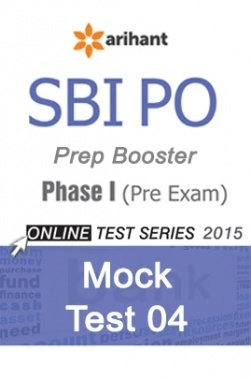 SBI Bank PO Mock Test 4