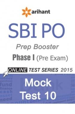 SBI Bank PO Mock Test 10