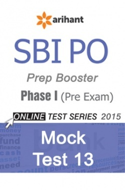 SBI Bank PO Mock Test 13