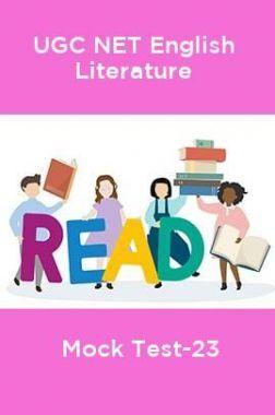 UGC-NET English Literature Mock Test-23