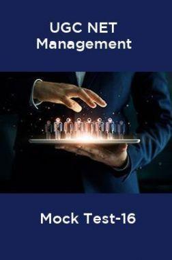 UGC-NET Management Mock Test -16