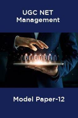 UGC-NET Management Model Paper-12