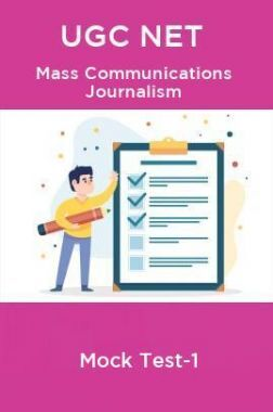 UGC NET Mass Communication journalism Mock Test-1