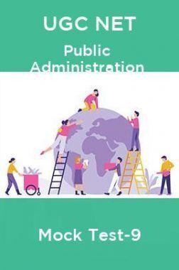 UGC NET Public Administration Mock Test-9