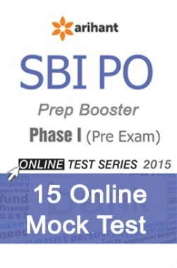SBI Bank PO Phase I (Pre Exam) Online 15 Mock Test Series By Arihant