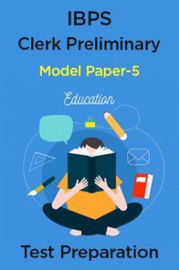 IBPS Clerk preliminary Model Paper-5