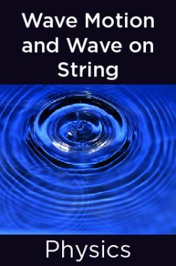 Physics-Wave Motion and Wave on String