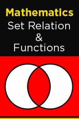 Mathematics-Set Relation Function