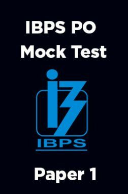 IBPS PO Mock Test Paper 1