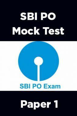 SBI PO Mock Test Paper 1