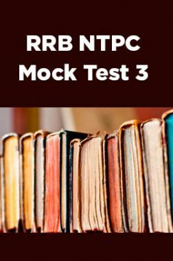 RRB NTPC Mock Test 3