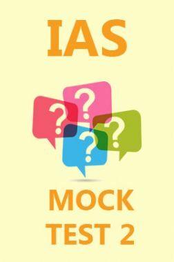 IAS Mock Test 2
