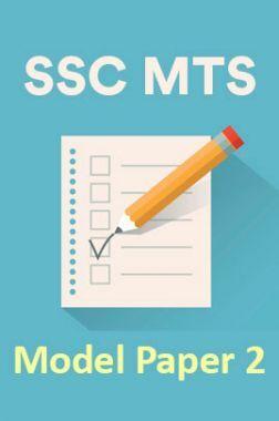 SSC MTS Model Paper 2
