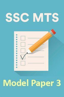 SSC MTS Model Paper 3
