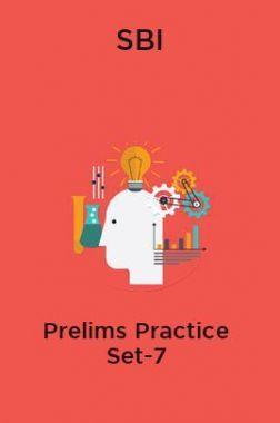 SBI-Prelims Practice Set-7