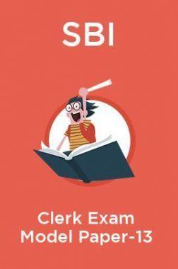 SBI Clerk Exam Model Paper -13