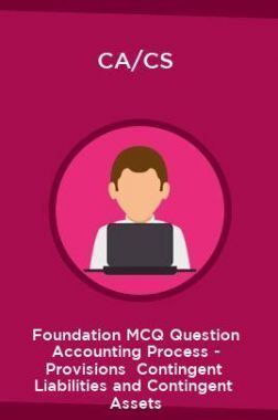 CA/CS Foundation MCQ Question Accounting Process - Provisions  Contingent  Liabilities and Contingent  Assets