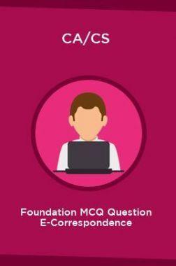 CA/CS Foundation MCQ Question E-Correspondence