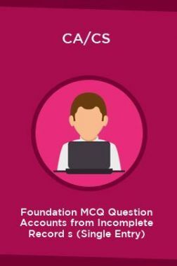 CA/CS Foundation MCQ Question Accounts from Incomplete Record s (Single Entry)